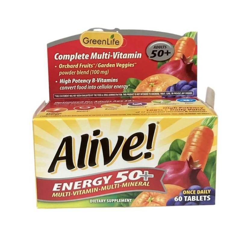 Greenlife Alive Energy 50+ Multivitamin 60 tablets