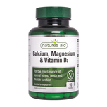 Natures Aid Calcium, Magnesium & Vitamin D3, 90 tablets