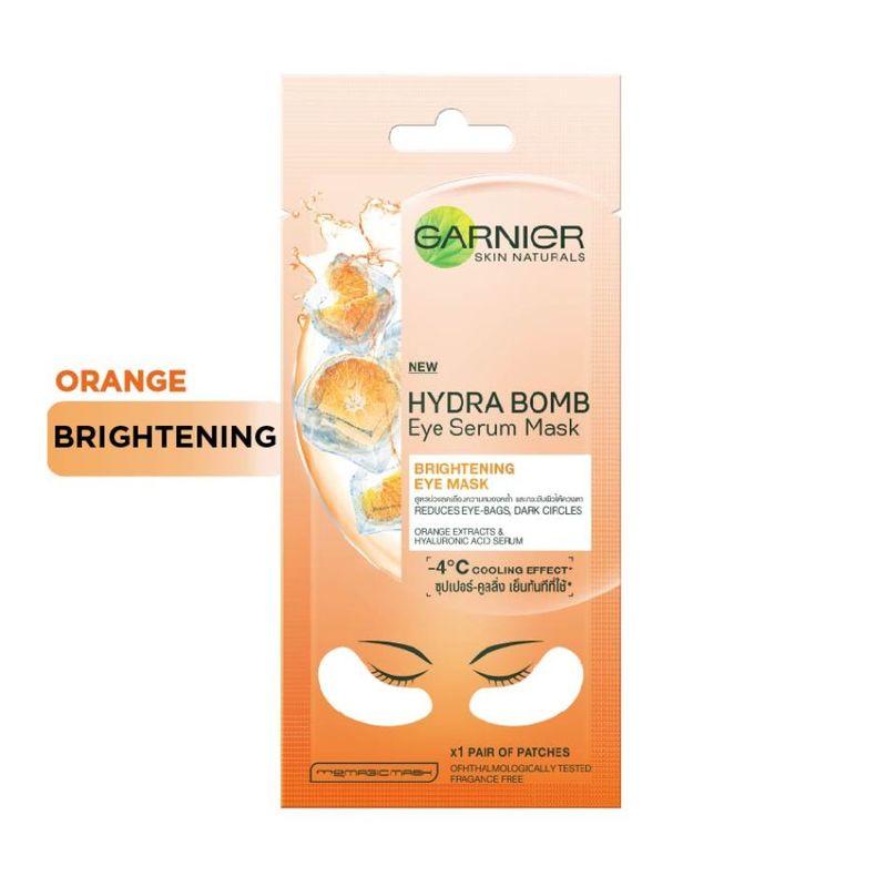 Garnier Hydra Bomb Orange Eye Serum Mask - Brightening Eye Mask