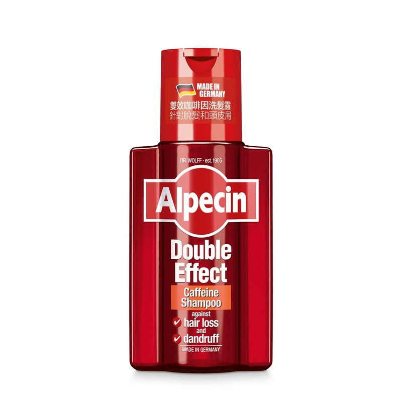 Alpecin Double Effect Caffeine Shampoo - Helps prevent hair loss and oily dandruff, for men 200mL