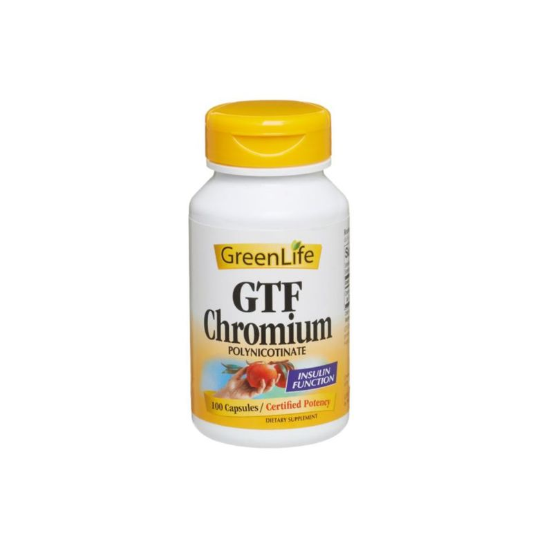 GreenLife GTF Chromium 100 Capsules