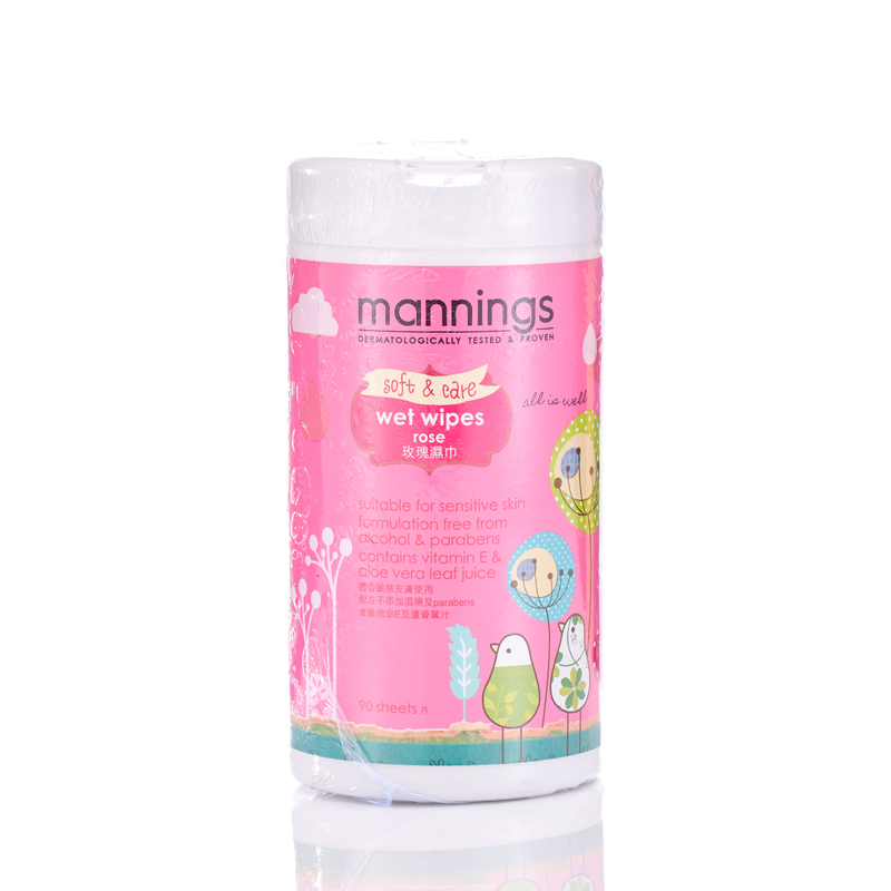 Mannings Rose Wet Tissue 90pcs