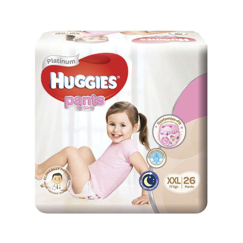 Huggies  Platinum Pants Girl Xtra Xtra Large (XXL) 26s