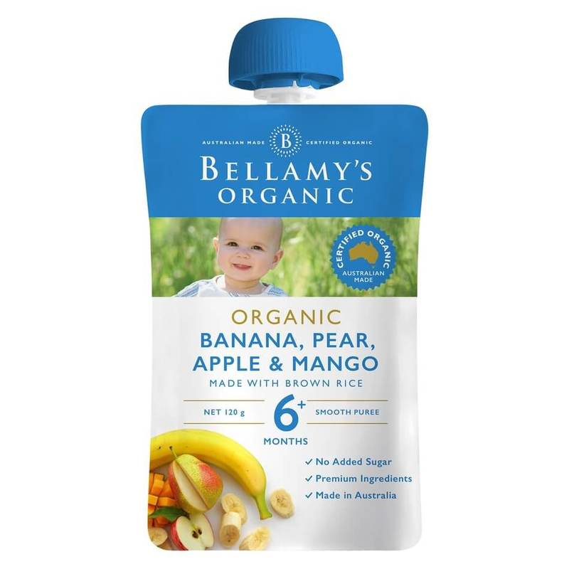Bellamy's Organic Banana, Pear, Apple & Mango Pouch, 120g