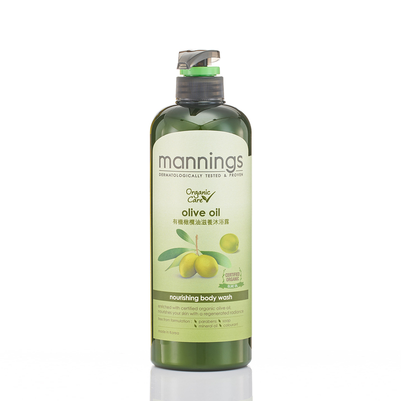 Mannings Organic Olive Oil Nourish Body Wash 800mL