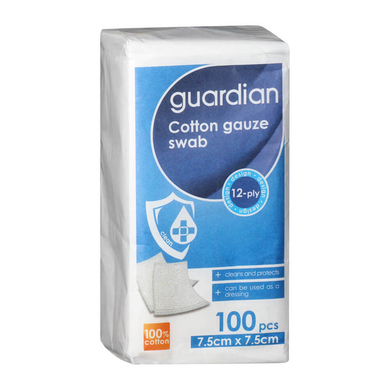 Guardian Cotton Gauze Swab 7.5cm x 7.5cm, 100pcs