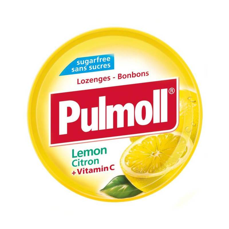 Pulmoll Lozenges Lemon Citron + Vitamin C, 45g