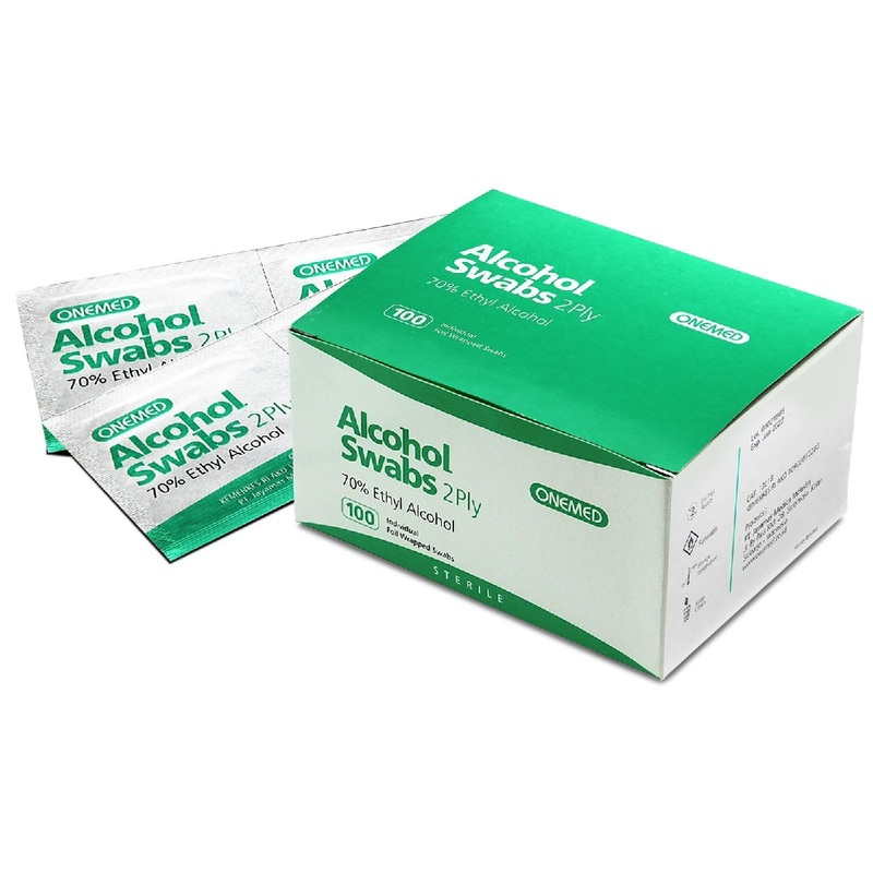 Onemed 70% Alcohol Swabs 100pcs
