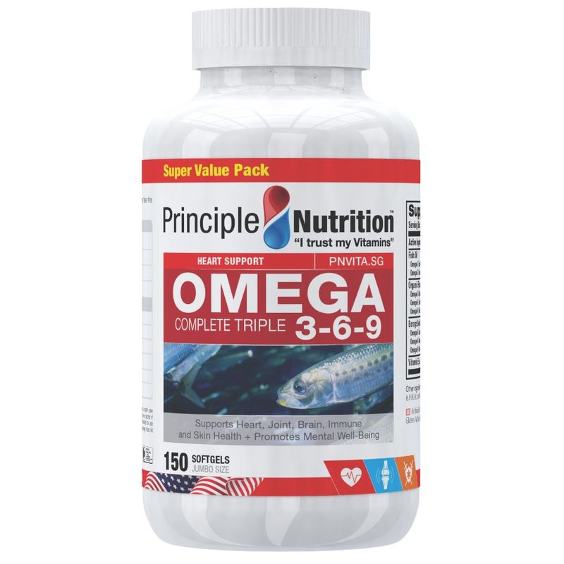 Principle Nutrition Complete Omega Triple 3-6-9, 150 softgels