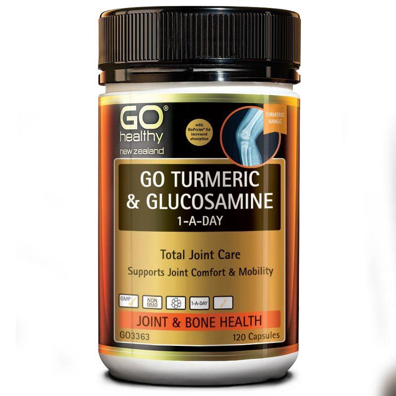 GO Healthy Go Turmeric + Glucosamine, 120 capsules