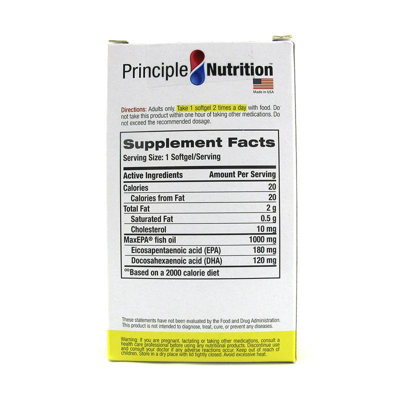 Principle Nutrition Omega 3 Fish Oil 1000mg, 90 softgels
