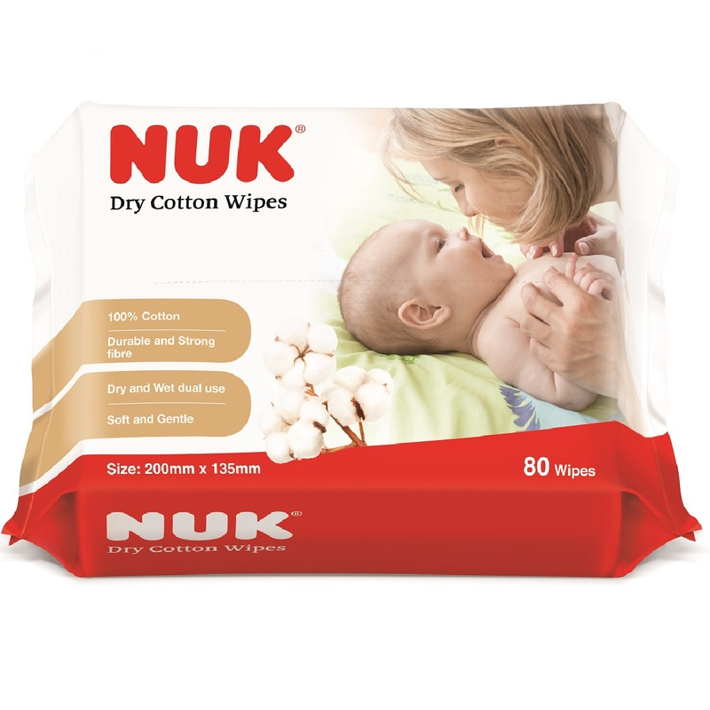 Nuk Dry Cotton Wipes 80pcs