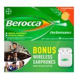 Berocca Performance Orange Twin Pack with Wireless Earphone