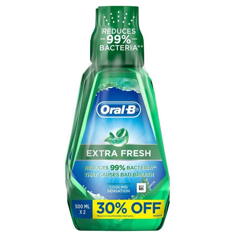 Oral-B Extra Fresh Rinse Bundle Pack (500ml x 2)