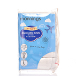 Mannings Men'S Disposable Brief L 5pcs