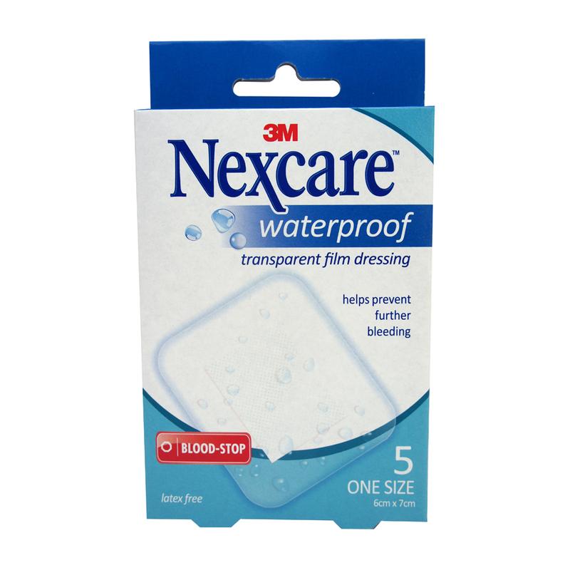 Nexcare Waterproof Bloodstop Dressing, 5pcs