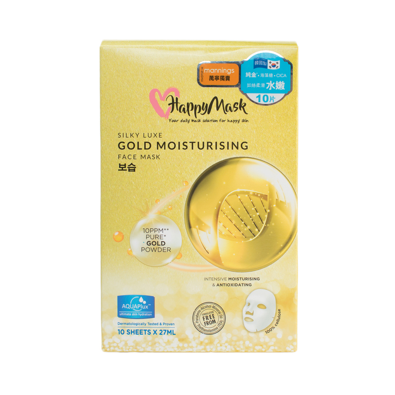 Happy Mask Silky Luxe Gold Moist Mask 10pc