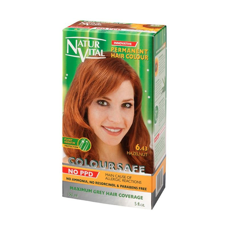 Natur Vital ColourSafe Permanent Hair Dye Hazelnut