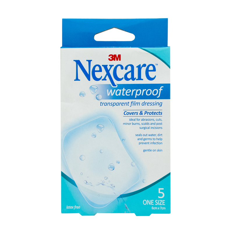 Nexcare WP Transparent Dressing 6x7cm, 5pcs