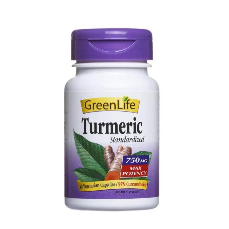GreenLife Turmeric 30 veg. capsules