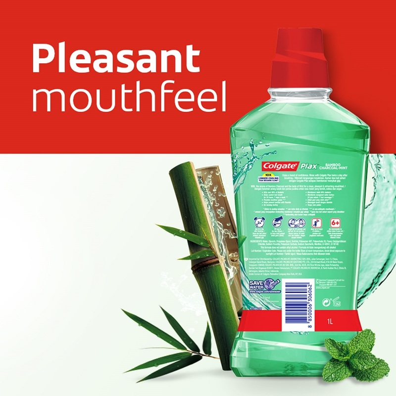 Colgate Plax Bamboo Charcoal Mint Mouthwash, 1L