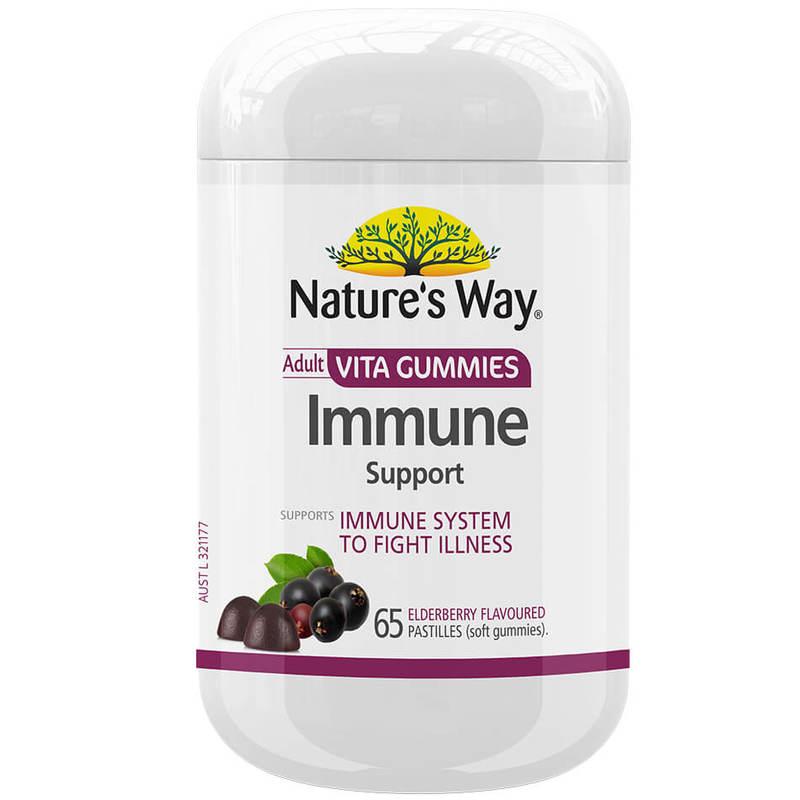 Nature's Way Adult Vita Gummies Immune Support 99.8% Sugar Free 65S
