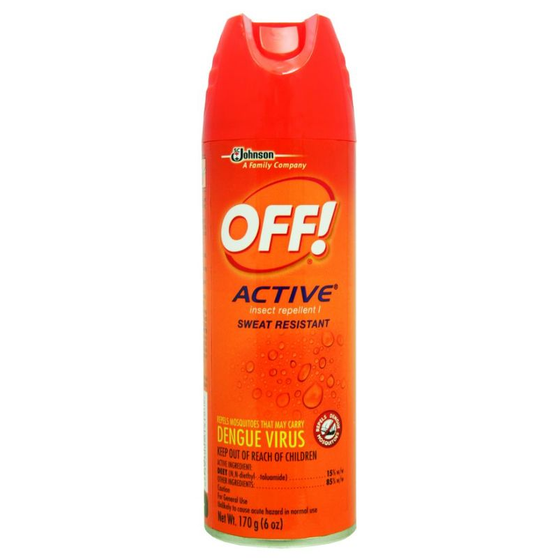 OFF! Active Sweat Resistant Insect Repellent, 170ml