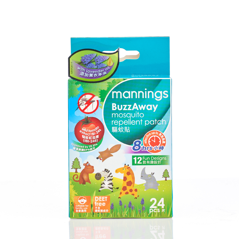 Mannings Buzzaway Mosquito Repellent Patch 24s