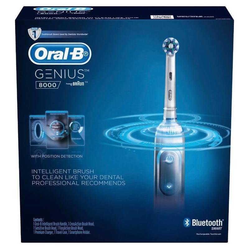 Oral-B Genius 8000 White Electric Toothbrush Powered by Braun