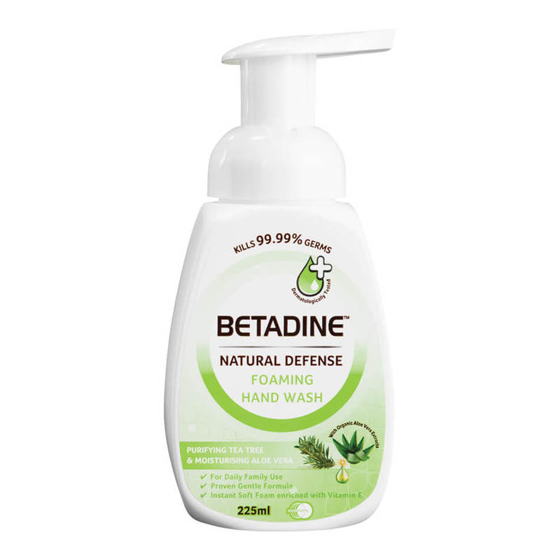 Betadine Natural Defense Purifying Tea Tree & Moisturising Aloe Vera Hand Wash, 225ml