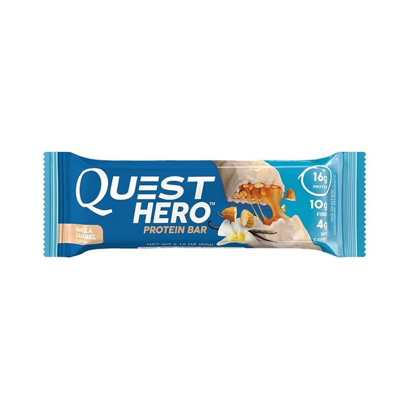 Quest Hero Vanilla Caramel Bar, 60g
