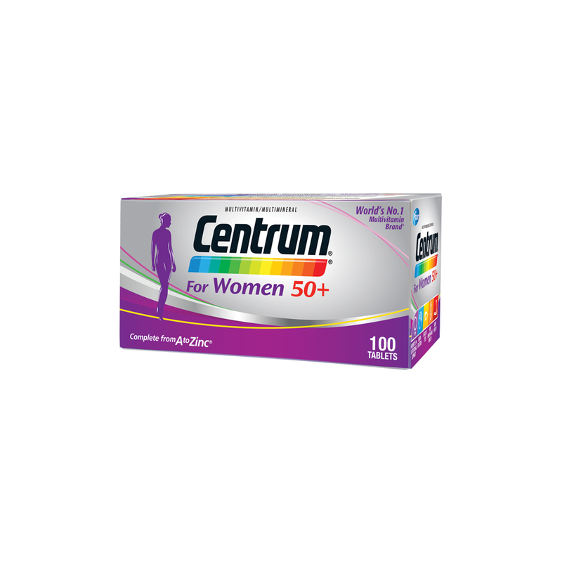 Centrum For Women 50+ Multivitamin, 100 tablets