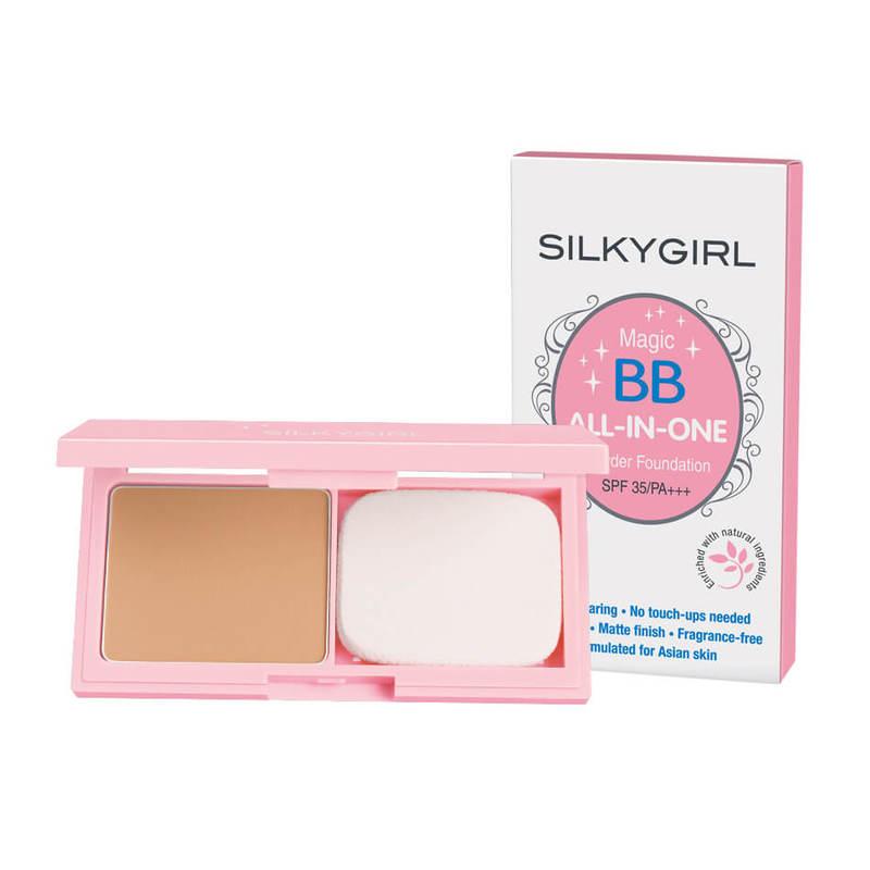 SilkyGirl Magic Bb All-In-One Powder Foundation - 04 Rose Beige 9G