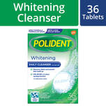 Polident Denture and Retainer Cleaning Tablets Whitening Cleanser, 36 tablets