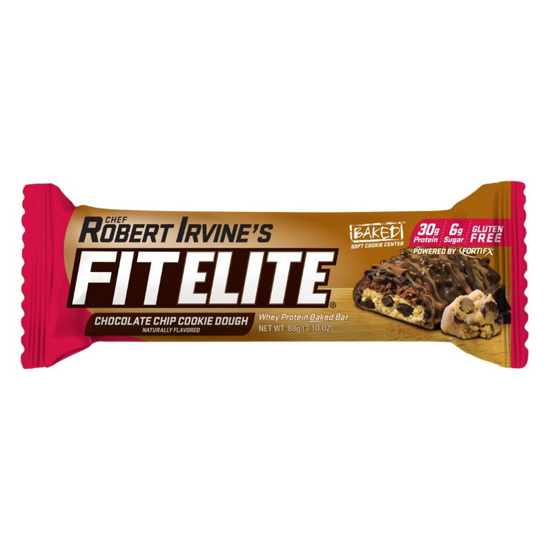 Fitelite Chocolate Chip Cookie Dough Whey Protein Baked Bar, 88g