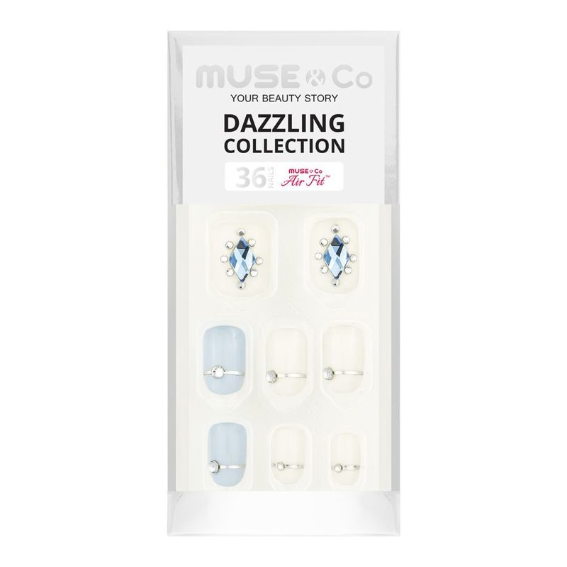 MUSE & Co Dazzling Collection 36 Nails, Aqua Brilliance