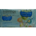 Mannings Wet Wipes 10pcs X3bags