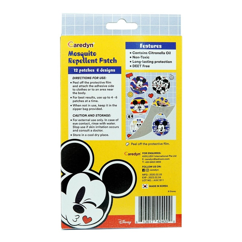 Caredyn Disney Mickey Thing Mosquito Repellent Patch 12s