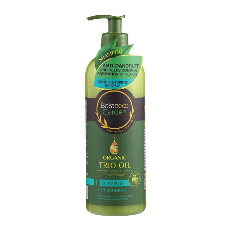 Botaneco Garden Organic Trio Oil Anti-dandruff Shampoo, 500ml