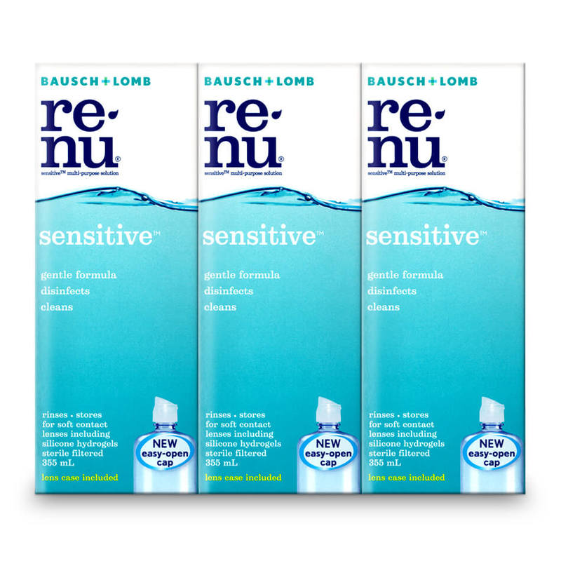 Bausch & Lomb Renu Sensitive Triple Pack