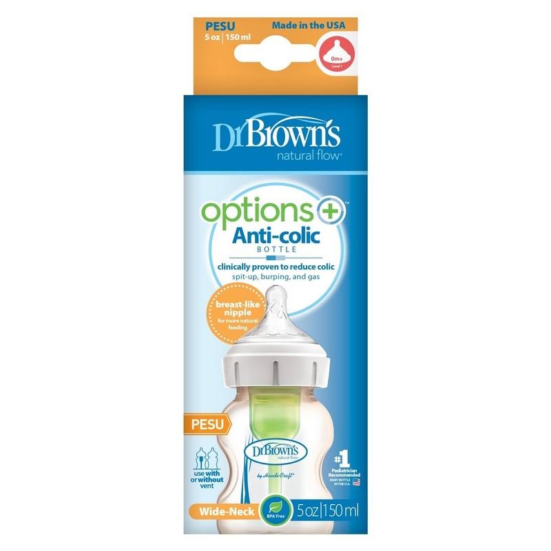 Dr.Brown's Options+ Pesu Anti-Colic Bottle w/ Breast-Like Nipple 150mL