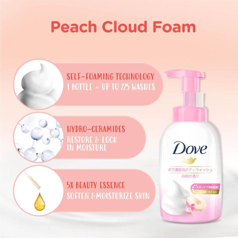Dove Peach Self-Foaming Cloud Foam Body Wash 400ml