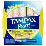 Tampax Pocket Pearl Regular Compact Tampons, 16pcs