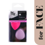 Be Youtiful Mini 3D Beauty Blending Sponge Pink & Purple, 2pcs