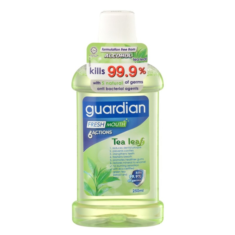 Guardian 6-Actions Tea Leaf Mouthwash, 250ml