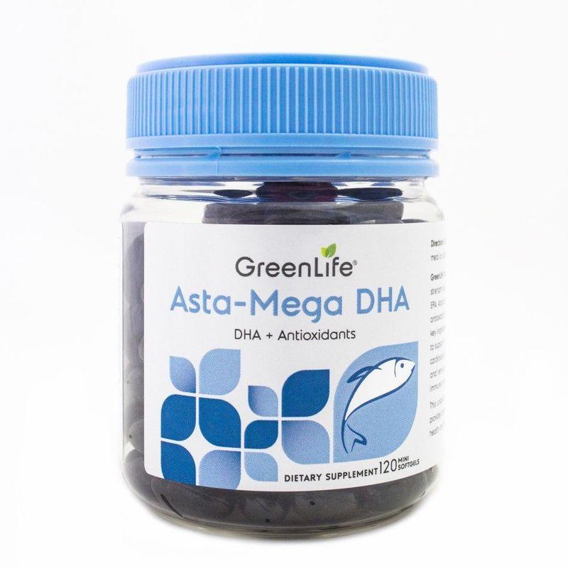 GreenLife Asta-Mega DHA Mini, 120 softgels