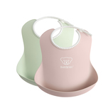 Babybjorn Baby Bib Powder Green/Powder Pink X2pcs