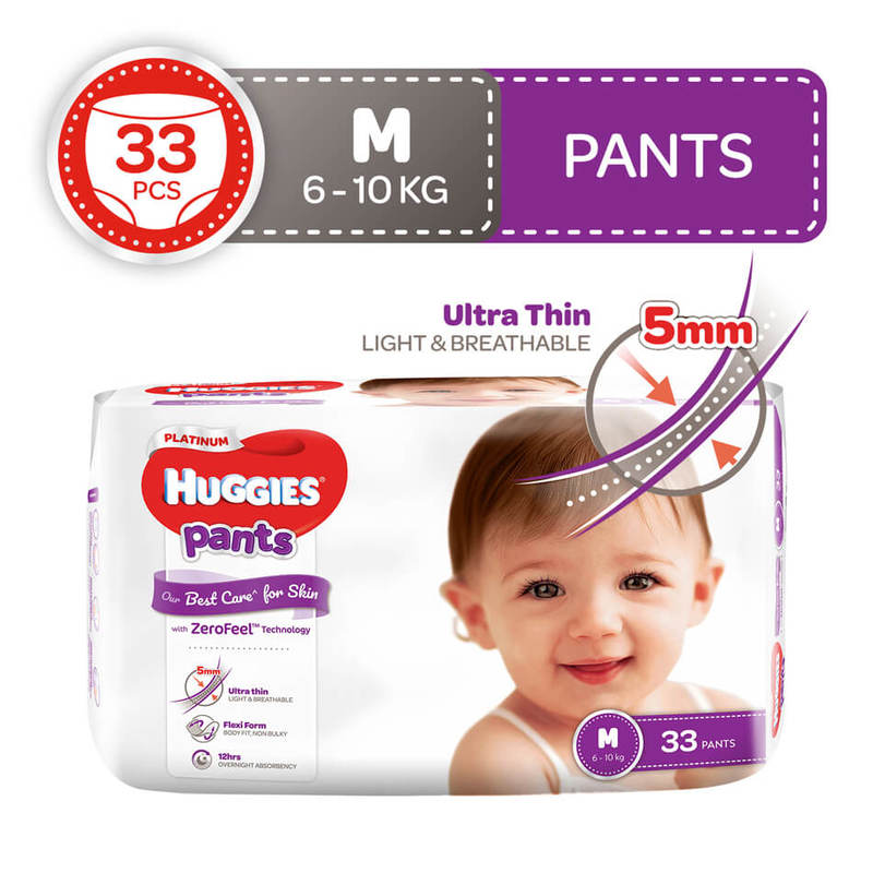 Huggies Platinum Pants M, 33pcs