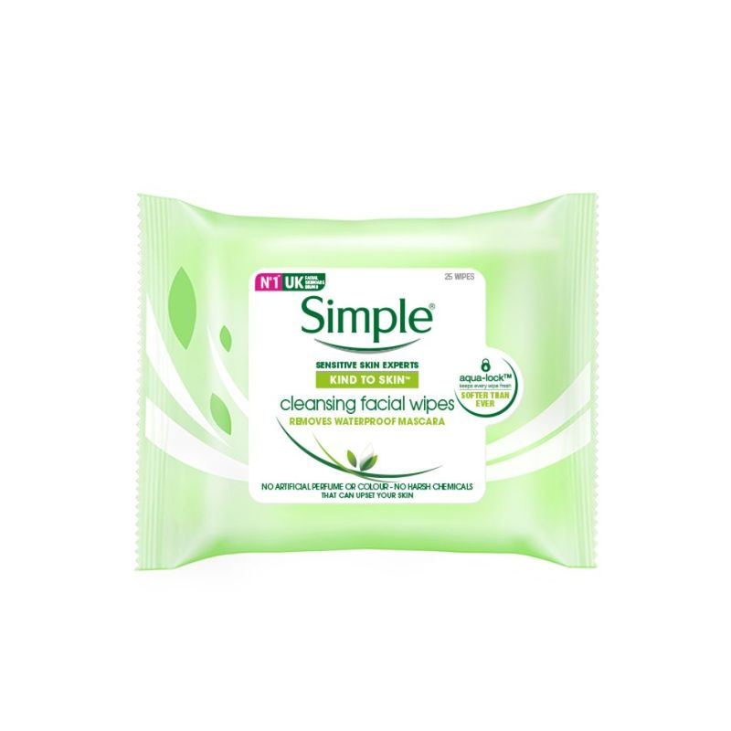 Simple  Cleansing Facial Wipes 25pcs