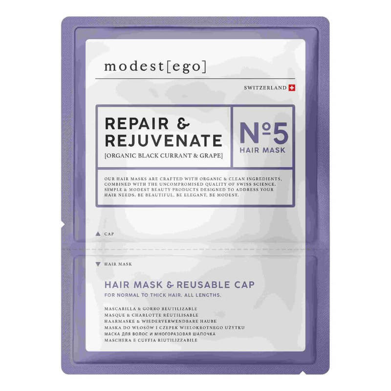 Modest Ego Organic Black Currant & Grape Repair Hair Mask & Cap 20ml